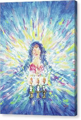 Lighting Shabbot Candles Canvas Print
