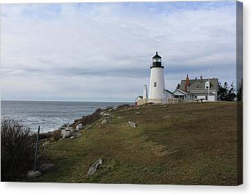Rocky Maine Coast Canvas Print - Lighting The Way.. by Bonny Bartlett