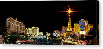 Long Street Canvas Print - Lighting Up Vegas by Az Jackson