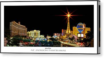 Lighting Up Vegas Poster Print Canvas Print by Az Jackson