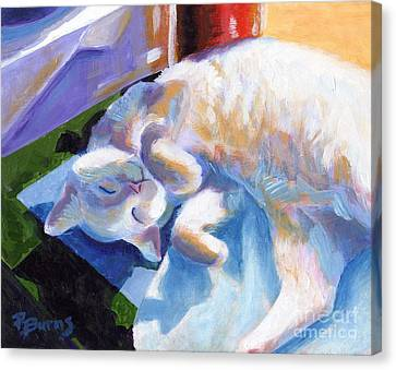 Lightly Napping Canvas Print by Pat Burns