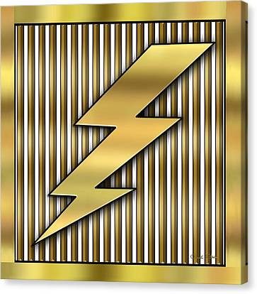 Lightning D Canvas Print - Lightning Bolt by Chuck Staley
