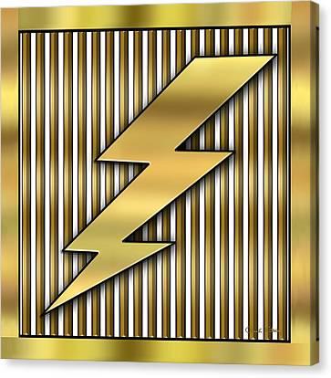 Lightning Bolt Canvas Print by Chuck Staley