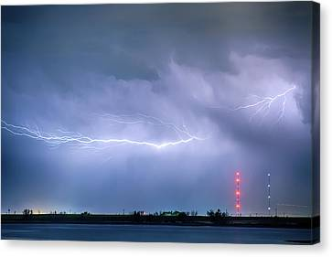 Lightning Bolting Across The Sky Canvas Print by James BO  Insogna