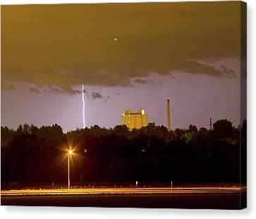 Lightning Bolts Striking In Loveland Colorado Canvas Print by James BO  Insogna