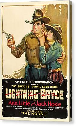 Lightning Bryce- The Noose 1919 Canvas Print