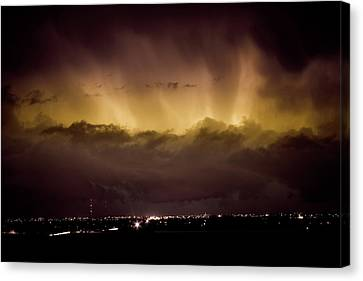 The Lightning Man Canvas Print - Lightning Cloud Burst Boulder County Colorado Im29 by James BO  Insogna