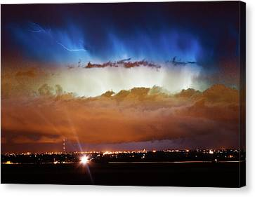 Lightning Cloud Burst Boulder County Colorado Im34 Canvas Print by James BO  Insogna