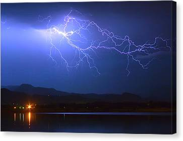 Lightning From Heaven Canvas Print by James BO  Insogna