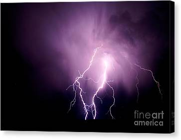 Lightning In The Desert Canvas Print