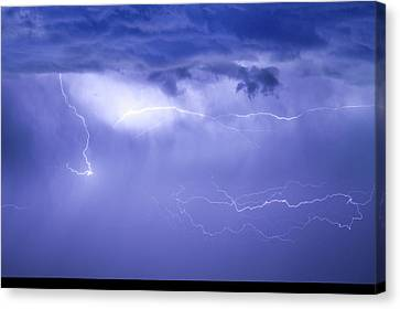 The Lightning Man Canvas Print - Lightning In The Rain by James BO  Insogna