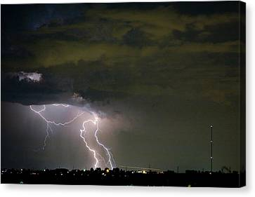Lightning Man In The Clouds Canvas Print by James BO  Insogna