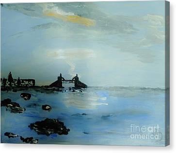 Lightning Over Lake Erie Canvas Print by Marie Bulger