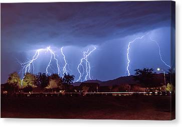 Lightning Over Laveen Canvas Print