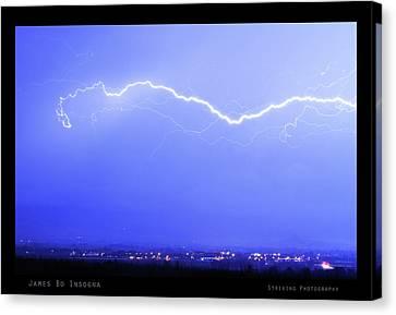 The Lightning Man Canvas Print - Lightning Over North Boulder Colorado  Poster Sp by James BO  Insogna