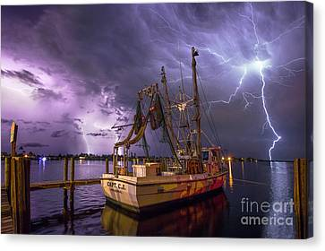 Lightning Over The Horizon Canvas Print
