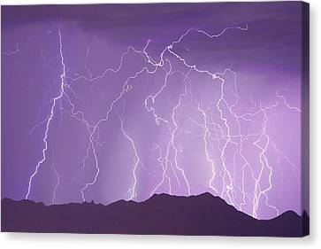 Lightening Canvas Print - Lightning Over The Mountains by James BO  Insogna