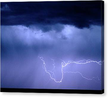 The Lightning Man Canvas Print - Lightning Rodeo by James BO  Insogna