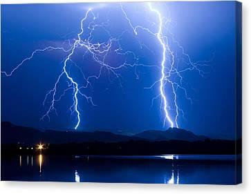 Lightning Storm 08.05.09 Canvas Print by James BO  Insogna