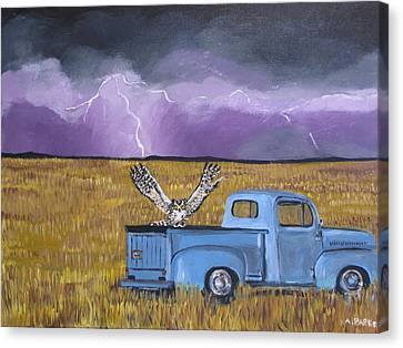 Lightning Storm Canvas Print by Aleta Parks