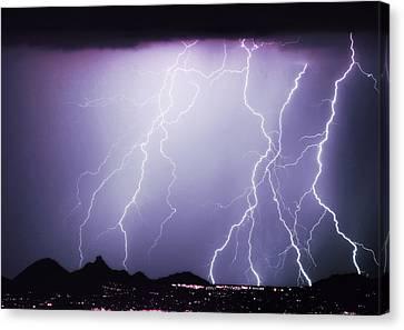 Lightning Storm North Scottsdale Az 85255 Canvas Print by James BO  Insogna