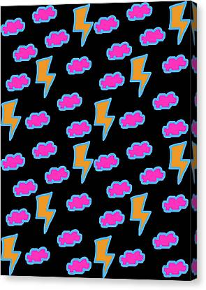 Lightning Storm Paper Canvas Print by Jera Sky