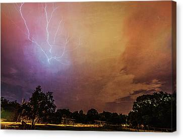 Summer Thunderstorm Canvas Print - Lightning Strike by Marvin Spates