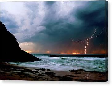 Lightning Strike Off Dana Point California Canvas Print
