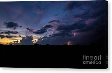 Lightning Sunset Canvas Print by Brian Jones