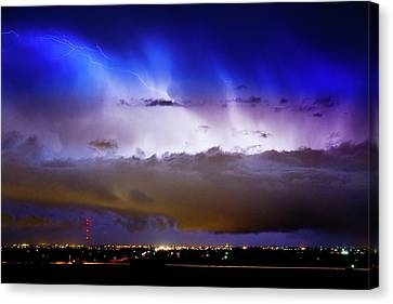Lightning Thunder Head Cloud Burst Boulder County Colorado Im39 Canvas Print by James BO  Insogna