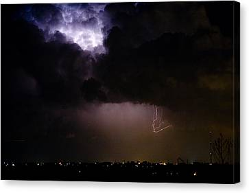 The Lightning Man Canvas Print - Lightning Thunderstorm Cell 08-15-10 by James BO  Insogna