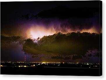 The Lightning Man Canvas Print - Lightning Thunderstorm Cloud Burst by James BO  Insogna