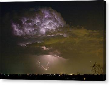 Lightning Thunderstorm With A Hook Canvas Print by James BO  Insogna