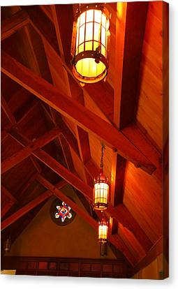Lights And Beams Canvas Print by Steven Ainsworth