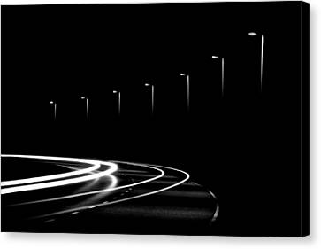 Lights In The Night Canvas Print by Gert Lavsen