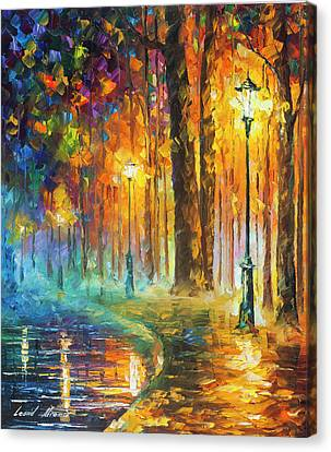 Lights Canvas Print by Leonid Afremov