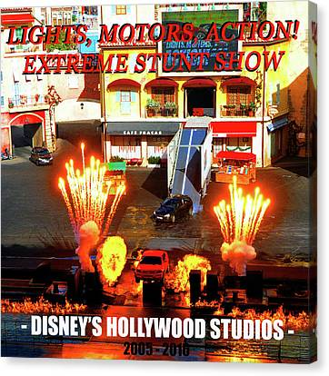 Lights, Motors, Action Poster Canvas Print by David Lee Thompson