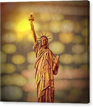 Lights Of Liberty Canvas Print