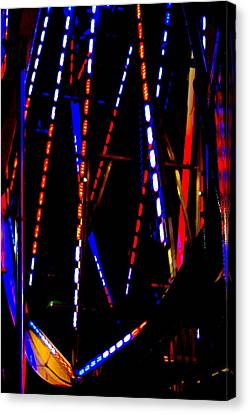 Lights Of The Ferris Wheel Canvas Print by Dana  Oliver