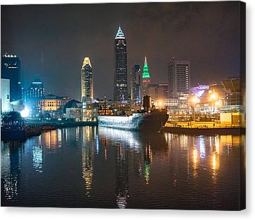 Lights Of The Sixth City Canvas Print by Calypso Pictures