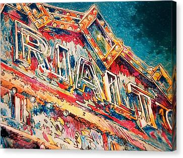 Lights Out At The Rialto Canvas Print by Don Getz
