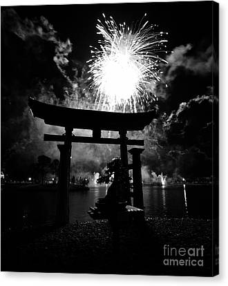 Torii Canvas Print - Lights Over Japan by David Lee Thompson