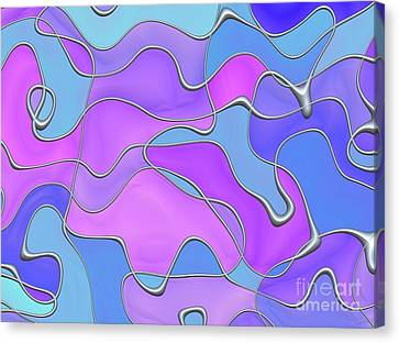 Lignes En Folie - 02a Canvas Print