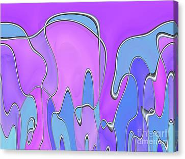 Canvas Print featuring the digital art Lignes En Folie - 03a by Variance Collections