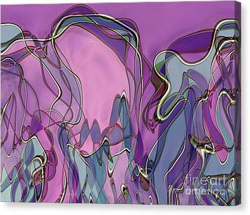 Canvas Print featuring the digital art Lignes En Folie - 13a by Variance Collections
