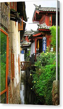 Lijiang Back Canal Canvas Print