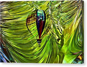 Like A Balloon Behind The Curtains Canvas Print by Jeff Swan