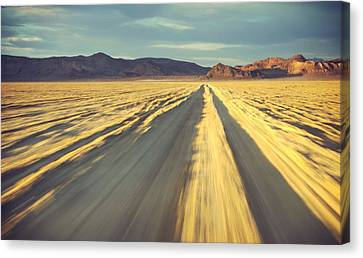 Like A Band Of Gypsies We Go Down The Desert Canvas Print