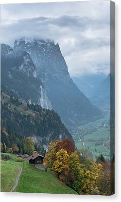 Wengen Canvas Print - Like A Painting by Scott Hafer