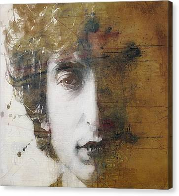 Bob Dylan Canvas Print - Like A Rolling Stone  by Paul Lovering